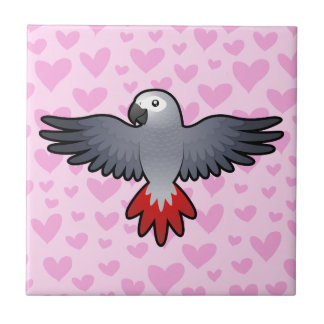African Grey / Amazon / Parrot Love Small Square Tile