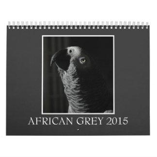 African Grey Parrot 2015 Custom Printed Calendar