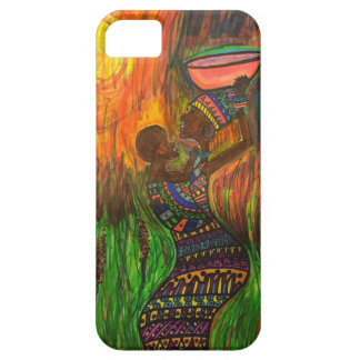 African mom with her baby iPhone 5 covers