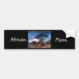 African Moon Bumper Sticker
