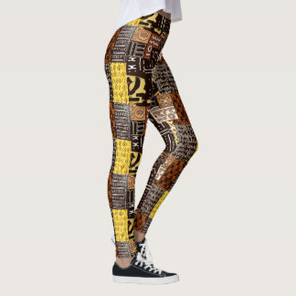 African Pattern Design Leggings