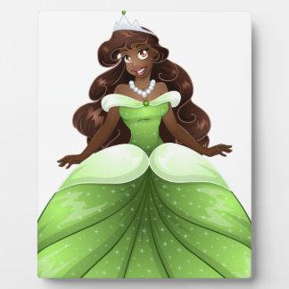 African Princess In Green Dress Plaque