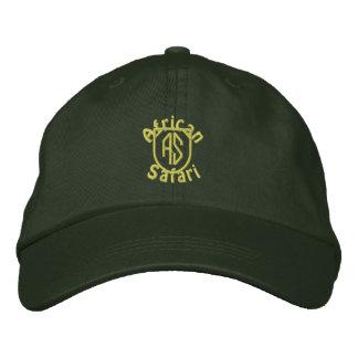 African Safari - Green Embroidered Baseball Caps