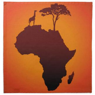 African Safari Map - Napkin