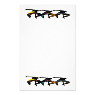 African tribal dance stationery