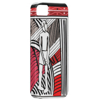African village life tribal farmer -red case for the iPhone 5