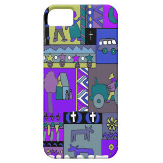 African village scene iPhone 5 covers
