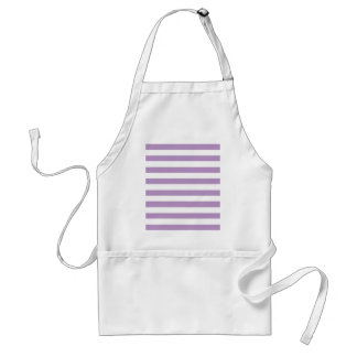 African Violet And Large White Stripes Patterns Apron
