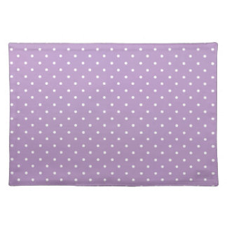 African Violet And White Polka Dots Pattern Placemat