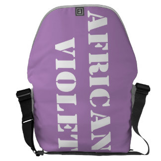 African violet courier bags