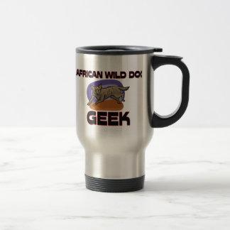 African Wild Dog Geek Coffee Mugs