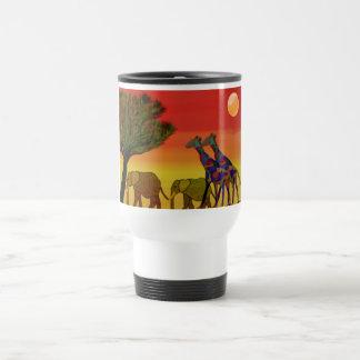 African Wildlife Habitat Travel Mug