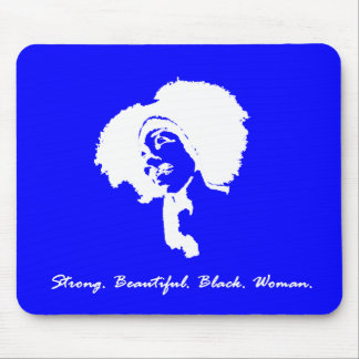 Afro Sista (blue/white) Mouse Pad
