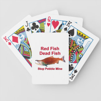 After Salmon - Stop Pebble Mine Bicycle Playing Cards