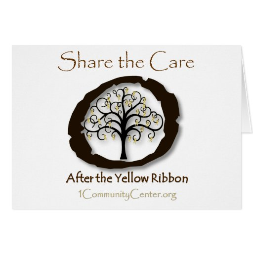 After the Yellow Ribbon-Support Combat Veterans Greeting Card
