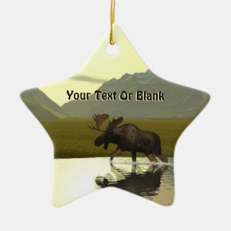Afternoon Moose Christmas Ornament