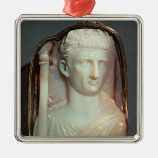 Agate Cameo bearing the portrait of Claudius Christmas Ornament