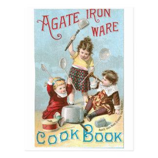 Agate Iron Ware Vintage Cookbook Ad Art Postcard