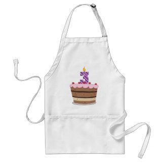 Age 3 on Birthday Cake Standard Apron