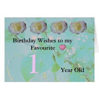 Age Birthday 1 today Card