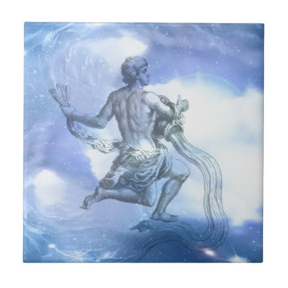 Age of Aquarius Zodiac Tile
