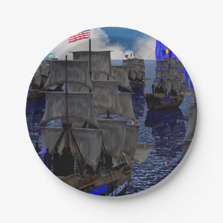 Age of Discovery Sailing faceconomics 7 Inch Paper Plate