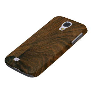 Aged Mahogany Wood Texture Galaxy S4 Case