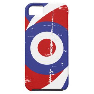 Aged retro Mod target design iPhone 5 Cases