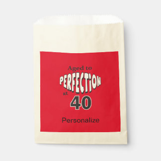 Aged to Perfection at 40 | 40th Birthday Favour Bags