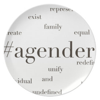 #Agender Party Plate