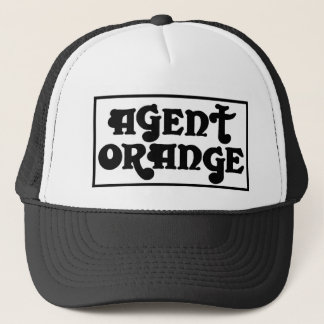 "Agent Orange ""Amp"" Logo Skate Punk Trucker Hat"