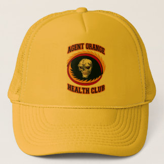 AGENT ORANGE HEALTH CLUB TRUCKER HAT