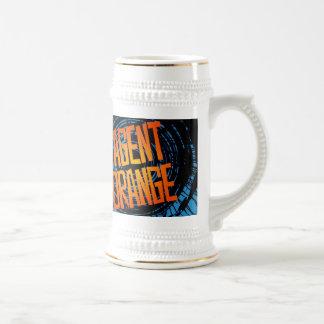 """Agent Orange """"SpinArt"""" Beer Stein Skate Punk Rock Coffee Mug"""
