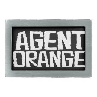 """Agent Orange """"Thrashed"""" Logo SkatePunk Belt Buckle"""