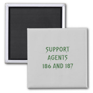 AGENTS 186 AND 187 REFRIGERATOR MAGNET