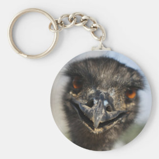 Aggressive Ostrich Basic Round Button Key Ring