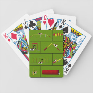 Agility Basset green Bicycle Playing Cards