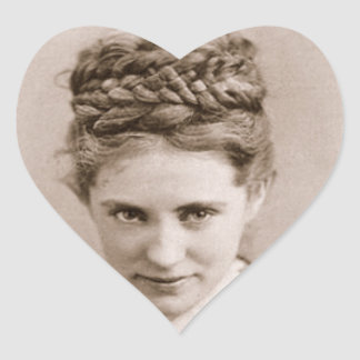 Agnes Ethel by Napoleon Sarony, 1870 Heart Sticker