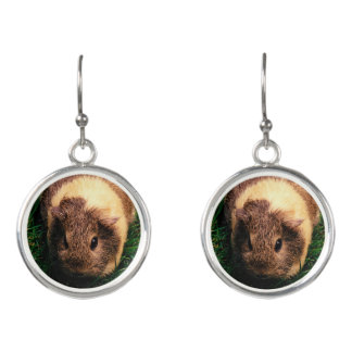 Agouti Guinea Pig in the Grass Earrings