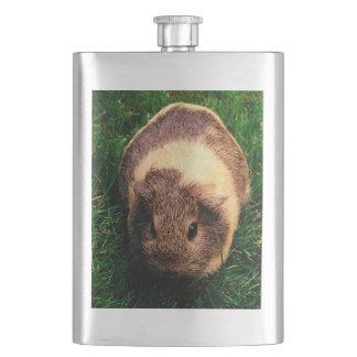 Agouti Guinea Pig in the Grass Hip Flasks