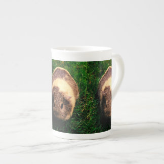 Agouti Guinea Pig in the Grass Tea Cup