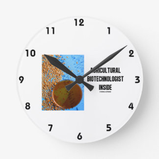 Agricultural Biotechnologist Inside (Genetic) Round Clock