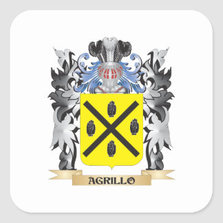 Agrillo Coat of Arms - Family Crest Square Sticker