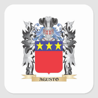 Agusto Coat of Arms - Family Crest Square Sticker