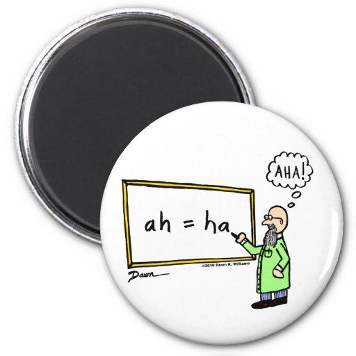 Aha! Cartoon Magnet