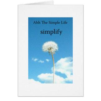 Ahh The Simple Life Card