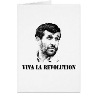 Ahmadinejad - Viva la revolution Card
