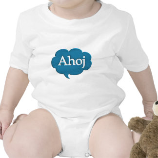 Ahoj hello languages speech bubble greetings expre baby creeper