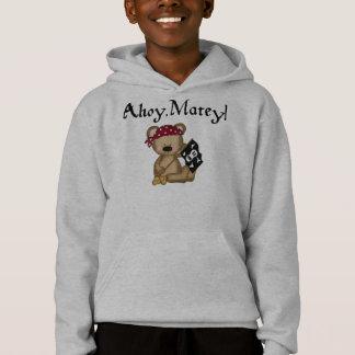 Ahoy Matey Teddy Bear Pirate Hoodie