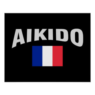Aikido France French Flag Poster